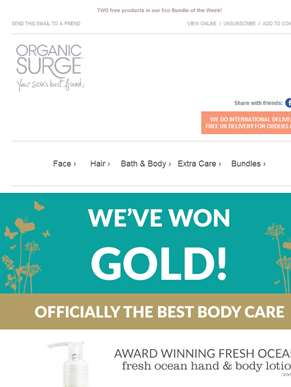 We've won gold! Celebrate with us & Save!