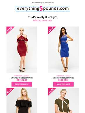 £2.50 dresses? Yes please!