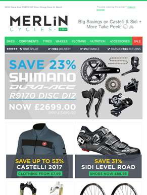 BIg Savings on Castelli & Sidi + More Take Peek! ?? ??