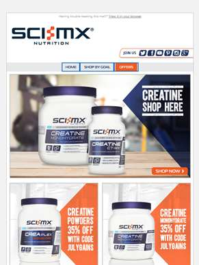 Creatine Offers + Free Delivery. Shop Now.