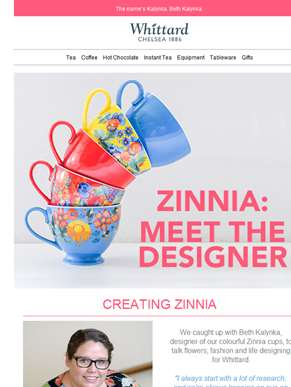 Meet our Zinnia designer