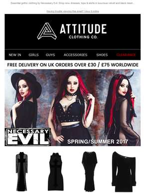 New: Necessary Evil - Goth Dresses, Tops & Skirts