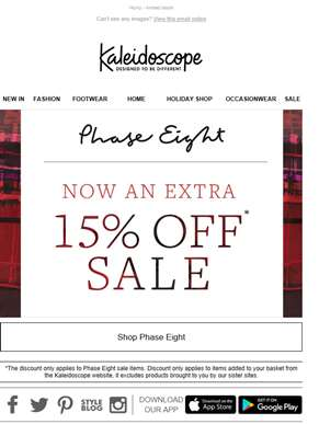 Extra 15% Off The Phase Eight Sale!