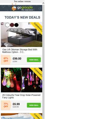 Gas Lift Ottoman Bed £99 | Solar Teardrop Lights £6.99 | CoolBlue Pillows £14 | Fat Freezing System