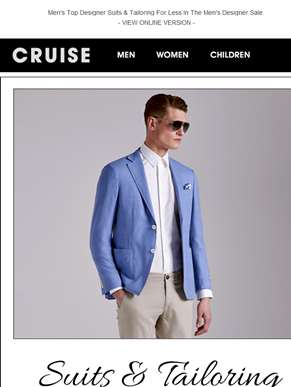 Up To 50% Off Designer Suits & Tailoring