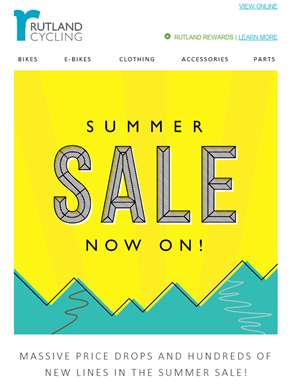 Massive Price Drops and Hundreds of New Lines in the Summer Sale!