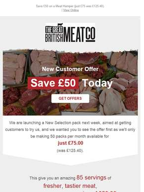 MASSIVE 85 serving selection pack, worth £125.40 – JUST £75! [New Meat Pack Offer]
