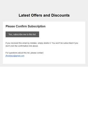 Latest Offers and Discounts: Please Confirm Subscription