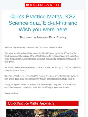 Try our new Quick Practice Maths Pack!