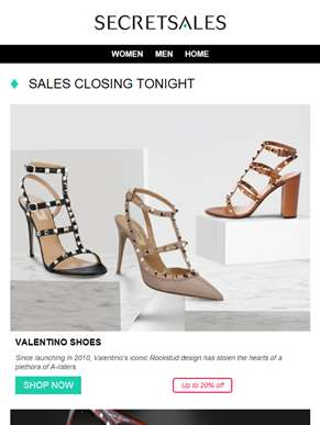 Closing tonight: Valentino Shoes, Valentino Sunglasses, Stella McCartney bags and Melissa