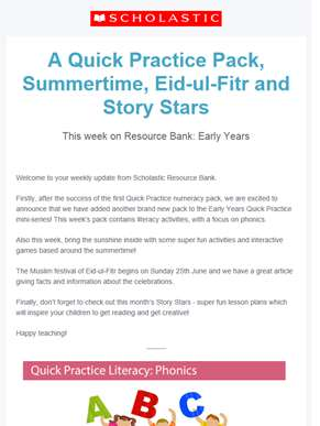 Try our new Quick Practice Literacy Pack! – Resource Bank Early Years
