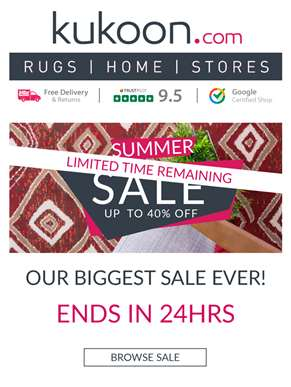 ? 24Hrs Remaining of our Big Rug Sale ?