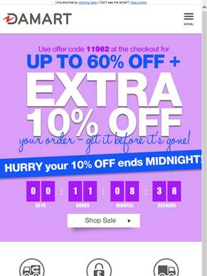 Hurry your 10% off ends MIDNIGHT