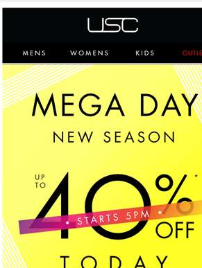 Fill your baskets! MEGA DAY starts online at 5!