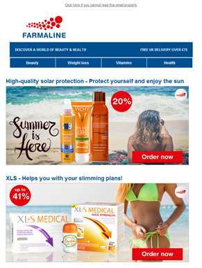 Enjoy up to 20% discount on XLS, Darphin, La Roche-Posay, Mustela, Phyto and Nutrisan