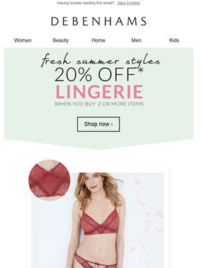 Lingerie, you have our full attention