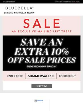 Exclusive Sale Discount - get an EXTRA 10% off