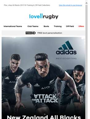 ?? New Zealand All Blacks 2017/18 Home Shirt available now.