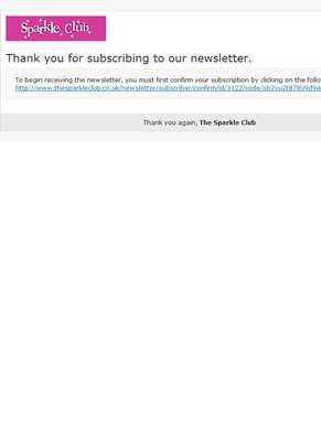 Newsletter subscription confirmation