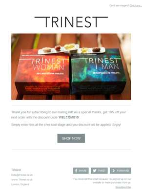 Welcome to Trinest - Offer Inside