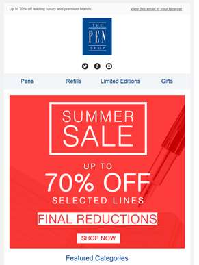Final Reductions in our Summer Sale!