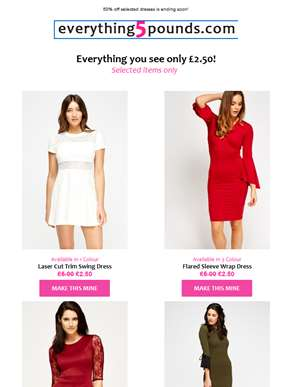 Extended for 24 hours! Dresses for £2.50 ??