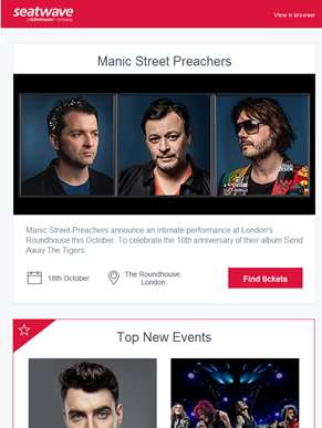 Manic Street Preachers | Liam Fray | Extreme | Celine Dion | Metallica | The Rolling Stones | Andre