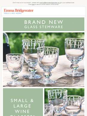 Brand New Champagne and Wine Glasses