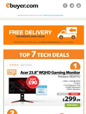 Hi  - Save £90 on Acer Predator 23.8