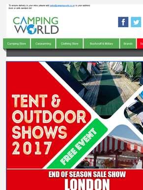 London Tent & Outdoor End of Season Show!