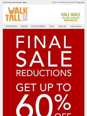 Final sale reductions - Now up to 60% off