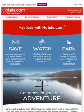 Get ready for your next adventure with Hotels.com