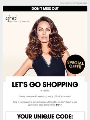Don't forget to use your ghd promo code | Time is running out...