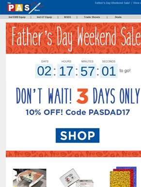 Celebrate Father's Day with 10% Off at the PAS Store!