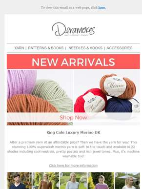 Stock Up! NEW Ranges From King Cole
