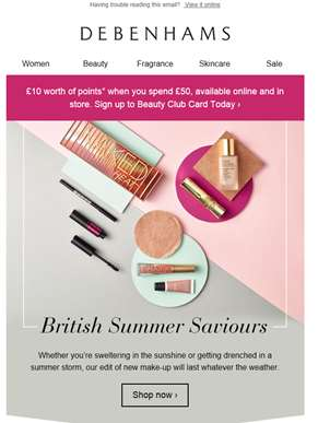 Beauty for British summer ?? ? Plus £10 worth of points