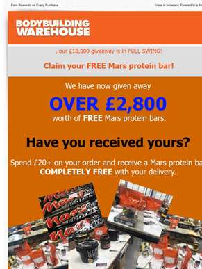 this is how much we've given away in FREE supplements already...WOW!!