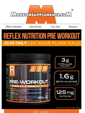 Reflex Nutrition Pre Workout - ONLY £9.95