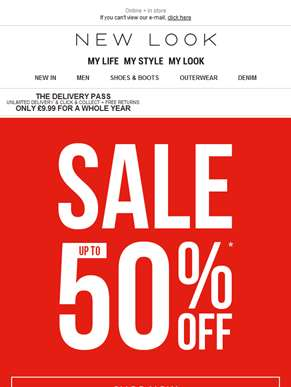NEW up to 50% OFF SALE! Go, go, go...
