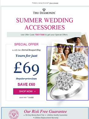 More Summer Offers - Wedding Selection