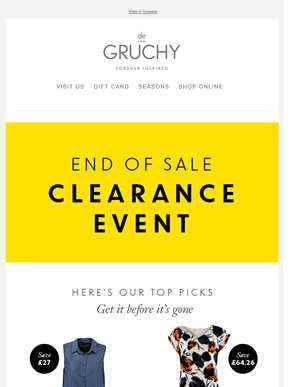 Get It Before It's Gone l Our Top Picks From Clearance