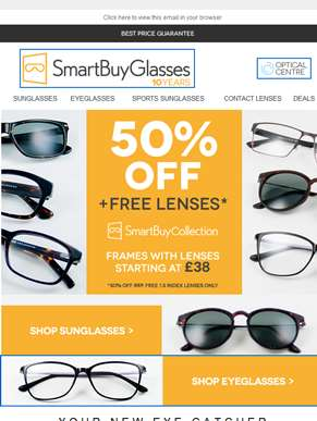 Half Price Frames & Free 1.5 index lenses ?? Our offer on SmartBuy Collection