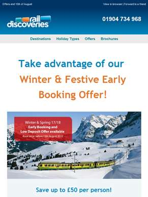 Early Booking Offers Ending Soon