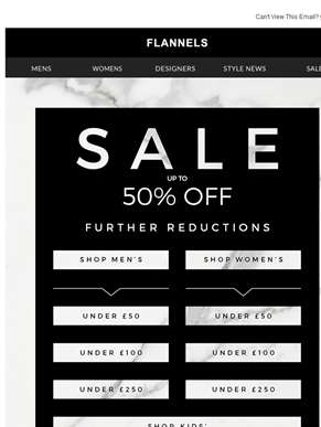 Up To 50% Off Sale Continues | Shop By Price