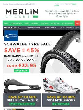Get a Grip.. Save Up To 45% Schwalbe MTB Tyres + More! ????