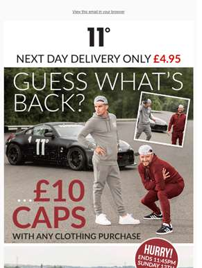The cap offer is back! Get a cap for just £10 ??