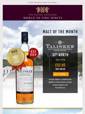 Malt of the Month – Talisker 57° North
