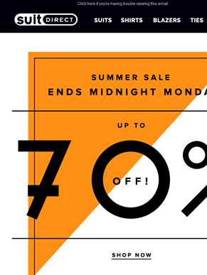 Summer Sale Ends Midnight Monday