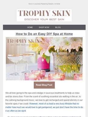 [Blog] How to Do an Easy DIY Spa at Home