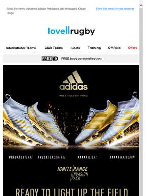 Powering the Lions in New Zealand; introducing the new adidas Invasion Pack.